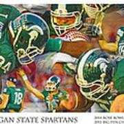Rose Bowl Collage Art Print