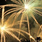 Rose Bowl Fireworks Art Print