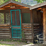 Rose Cabin At The Holzwarth Historic Site Art Print