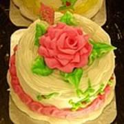 Rose Cakes Art Print