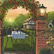 Rose Cottage - Dinner For Two Art Print