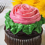 Rose Cupcake Art Print