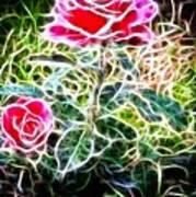Rose Expressive Brushstrokes Art Print