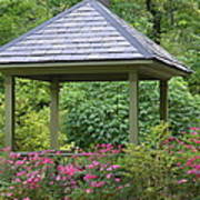 Rose Garden Gazebo Art Print