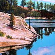 Rose Lake Sequel 2 Art Print