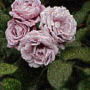 Rose Mosaic 1 Art Print