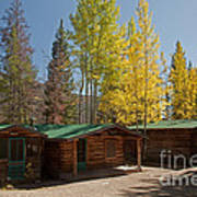 Rose Twin 1 And Twin 2 Cabins At The Holzwarth Historic Site Art Print