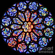 Rose Window Of Grace Cathedral By Diana Sainz Art Print