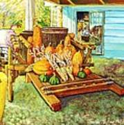 Rosebank Farm Cart Art Print