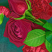 Roses And Carnations Art Print
