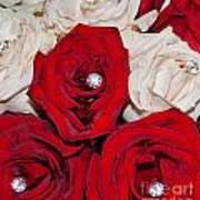 Roses And Diamonds Art Print