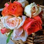 Roses Florentine Art Print