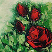 Roses In The Hedge Art Print