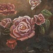Roses In The Sun Art Print by Elizabeth Lane
