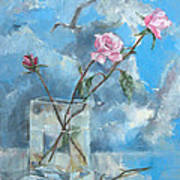 Roses In The Window Art Print