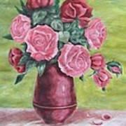 Roses In Vase Art Print
