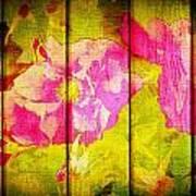 Roses On Wood Art Print