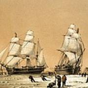 Ross Arctic Search Expedition, 1848-9 Art Print by Science Photo Library