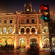 Rossio Train Station Art Print
