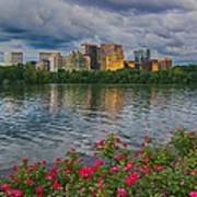 Rosslyn Virginia Sunset From Across The Potomac River Art Print