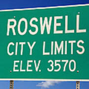 Roswell New Mexico Art Print