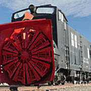Rotary Snow Thrower 99201 In The Colorado Railroad Museum Art Print