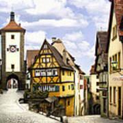 Rothenburg Marketplatz Art Print