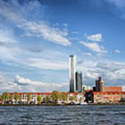 Rotterdam Skyline In Netherlands Art Print