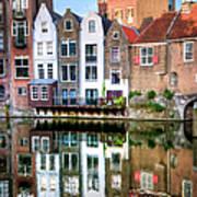Rotterdams Delfshaven With His Historic Art Print