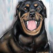 Rottweiler Art Print by Chris Dreher