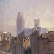 Rouen Cathedral Sunrise Art Print