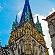 Rouen Church Steeple Art Print
