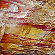 Rough And Red Rock In Petra-jordan  Art Print