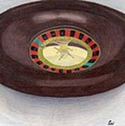 Roulette Wheel Art Print by Bav Patel