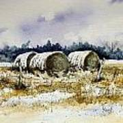 Round Bales Print by Sam Sidders