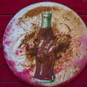 Round Coke Sign Art Print