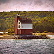 Round Island Lighthouse Art Print