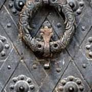 Round Metal Doorknob Art Print