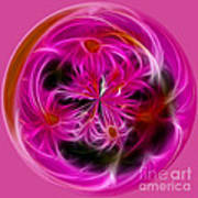 Round Pink And Pretty By Kaye Menner Art Print