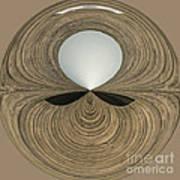 Round Wood Art Print