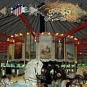 Rounding Board Slater Park Carousel Art Print