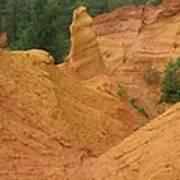 Roussillon Ochres Pigments Rock Art Print