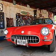 Route 66 Corvette Art Print