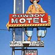 Route 66 - Cowboy Motel Art Print