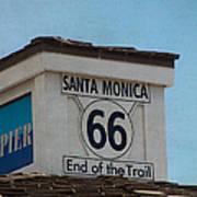 Route 66 - End Of The Trail Art Print by Kim Hojnacki