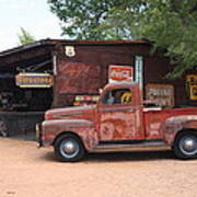 Route 66 Garage And Pickup Art Print