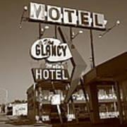 Route 66 - Glancy Motel Art Print