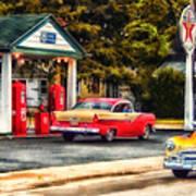 Route 66 Historic Texaco Gas Station Art Print