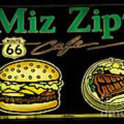 Route 66 Miz Zips Art Print