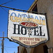 Route 66 - Oatman Hotel Art Print